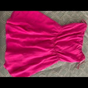 Fun  pink silk dress